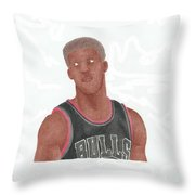 Jimmy Butler Throw Pillow