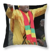 Jimmy Cliff Painting Throw Pillow