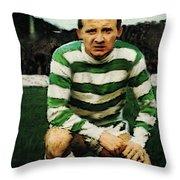 Jimmy Johnstone  Throw Pillow