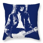 Jimmy Page In Blue Portrait Throw Pillow