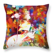 Jimmy Page Jamming Throw Pillow