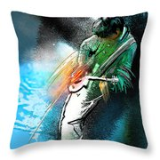 Jimmy Page Lost In Music Throw Pillow