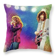 Jimmy Page - Robert Plant Throw Pillow