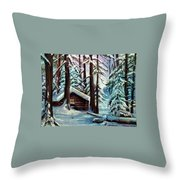 Jimmy's Cabin Throw Pillow