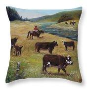 Jim's Cattle Throw Pillow