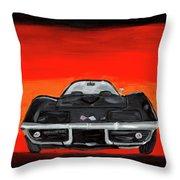 Jim's Vette Throw Pillow