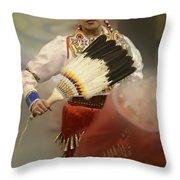 Pow Wow Jingle Dancer 1 Throw Pillow