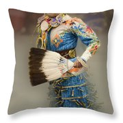Pow Wow Jingle Dancer 7 Throw Pillow