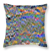 Jittery Colors Throw Pillow