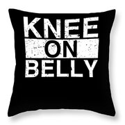 Jiu Jitsu Bjj Knee On Belly Light Throw Pillow