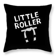 Jiu Jitsu Bjj Little Roller White Light Throw Pillow