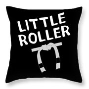 Jiu Jitsu Bjj Little Roller White Light Throw Pillow