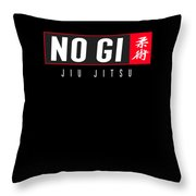 Jiu Jitsu Black Belt No Gi Light Gift Martial Arts Bjj Throw Pillow