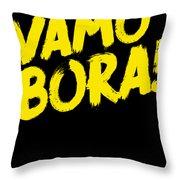 Jiu Jitsu Design Vamo Bora Yellow Light Martial Arts Throw Pillow