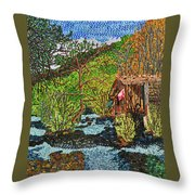 Jiuzhai Valley Throw Pillow