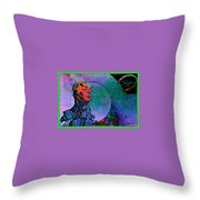 Jive Bot/robotics And Consciousness/she Had Left Her Robotic Body/ Throw Pillow