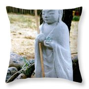 Jizo Bodhisattva - Children's Protector Throw Pillow