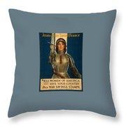 Joan Of Arc World War 1 Poster Throw Pillow