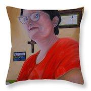 Joan Of Smart Throw Pillow