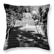 Jodo Shu Mission Lahaina Maui Throw Pillow