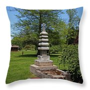 Joe And Marie Schedel Pagoda- Vertical Throw Pillow
