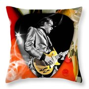 Joe Bonamassa Blues Guitar Art Throw Pillow