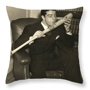 Joe Dimaggio (1914-1999) Throw Pillow