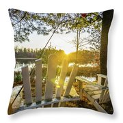 Joe Lake Throw Pillow