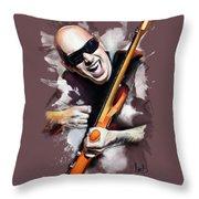 Joe Satriani Throw Pillow