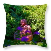 Joe T Garcias Sculpture Throw Pillow