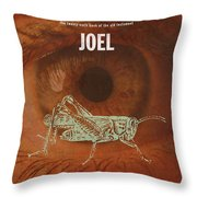 Joel Books Of The Bible Series Old Testament Minimal Poster Art Number 29 Throw Pillow