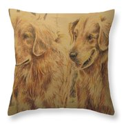 Joe's Dogs Throw Pillow