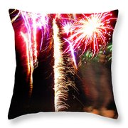 Joe's Fireworks Party 1 Throw Pillow