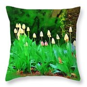 Joe's Tulips Throw Pillow