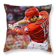 Joey Votto Baseball Throw Pillow