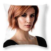 Johanna In Black Broad Throw Pillow