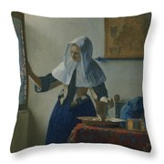Johannes Vermeer Young_woman Throw Pillow
