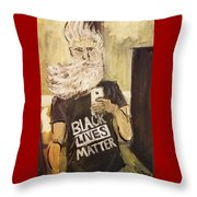 John Brown Selfie  Throw Pillow