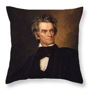 John C. Calhoun Throw Pillow