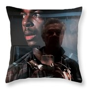 John Coltrane And Me Throw Pillow