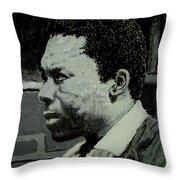 John Coltrane Throw Pillow
