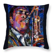 John Coltrane Live Throw Pillow