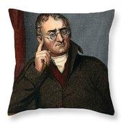 John Dalton - To License For Professional Use Visit Granger.com Throw Pillow