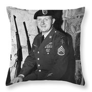 John Dane In Viet Nam  Uniform American Fork Utah 1975 Throw Pillow