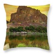 John Day River At Sunrise Throw Pillow