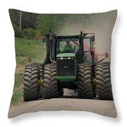 John Deer Tractor Throw Pillow