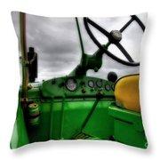 John Deere 830 Dash Throw Pillow