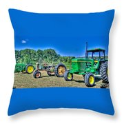 John Deere Lineup Throw Pillow