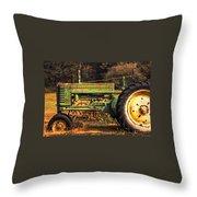 John Deere Retired Throw Pillow