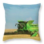 John Deere S690 Throw Pillow